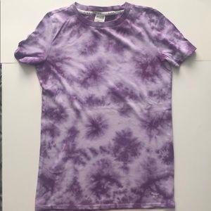 PINK VICTORIA SECRET purple tie dye t-shirt